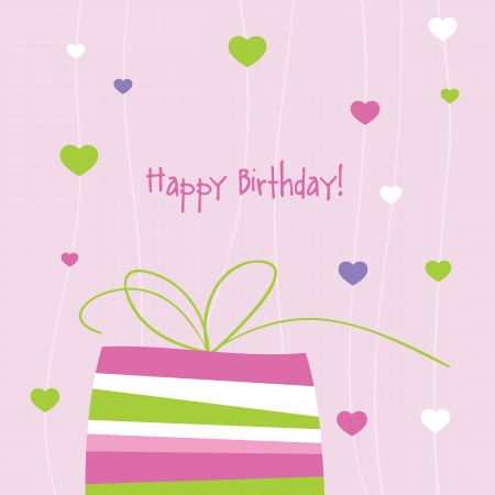 Birthday card with copy space Stock Vector - 13642387