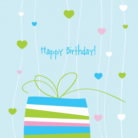 Birthday card with copy space Stock Vector - 13642388