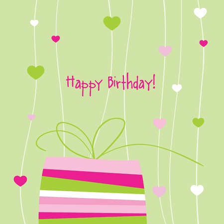 Birthday card with copy space Stock Vector - 13642389