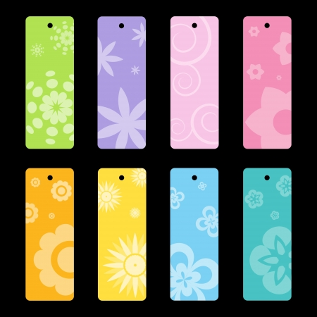 Set of colorful vector tags  Illustration
