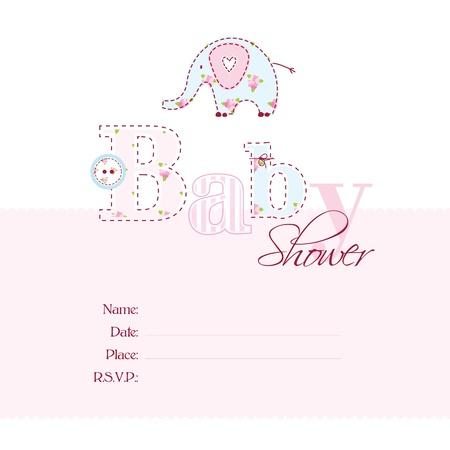 Tarjeta de Baby Shower con copia espacio