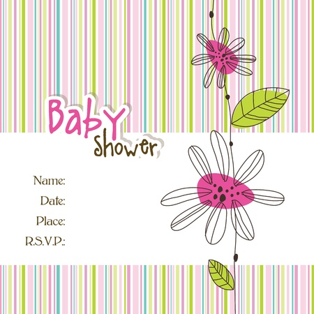 photo backdrop: Baby shower invitation  Illustration