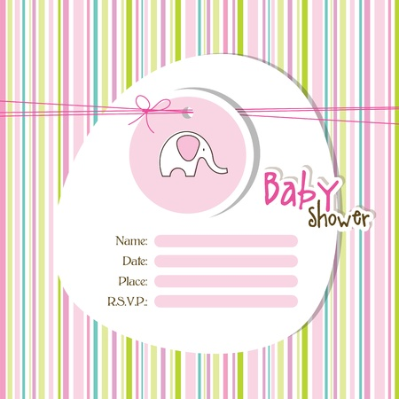 Baby shower invitation  Ilustracja