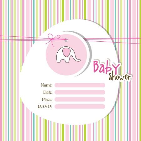 Baby shower invitation  Vettoriali