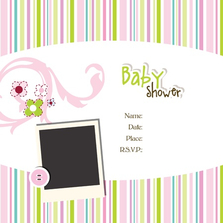 sample text: Baby shower invitation  Illustration
