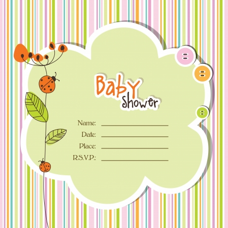 Baby shower invitation  Stock Vector - 14441755