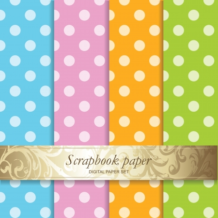 Colorful Backgrounds set - Scrapbook paper Stock Vector - 15428131