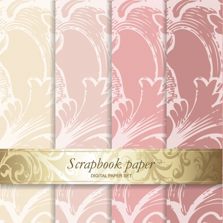 tissu or: Colorful Backgrounds set - papier Scrapbook