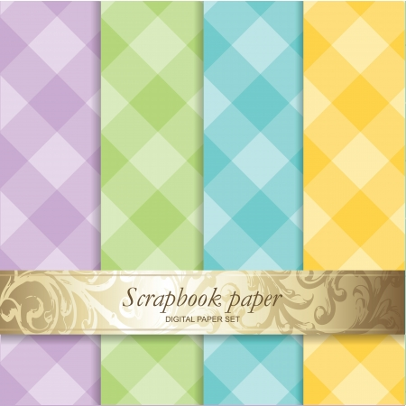 Colorful Backgrounds set - Scrapbook paper Vector