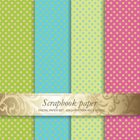 Colorful Backgrounds set - Scrapbook paper Vettoriali