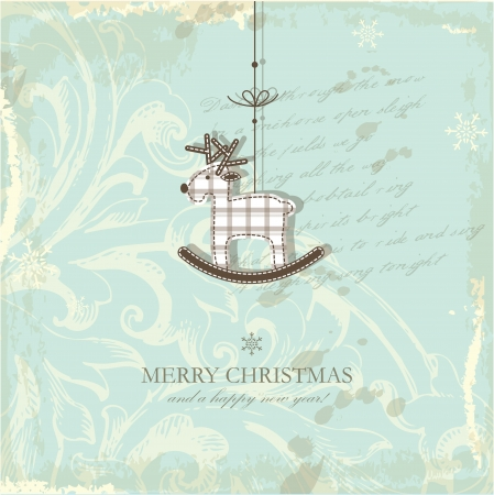 moos: Christmas card with copy space Illustration