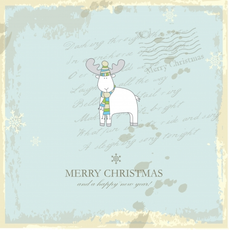 Christmas card with copy space Vector