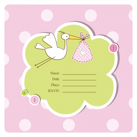 baby shower: Baby shower invitation with copy space