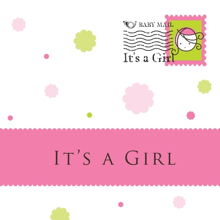 birth announcement: Baby arrival card - greeting card