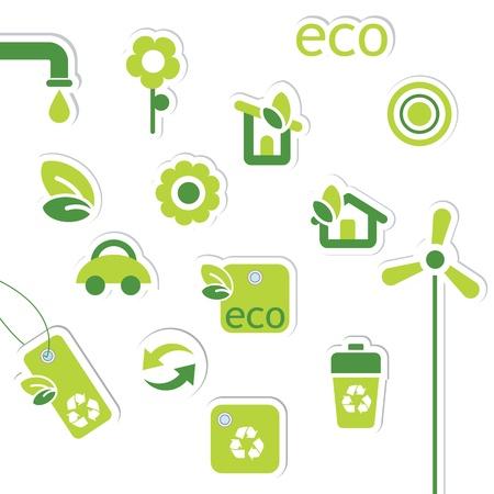 eco house: Eco symbols