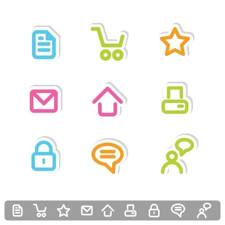 Colorful icon set