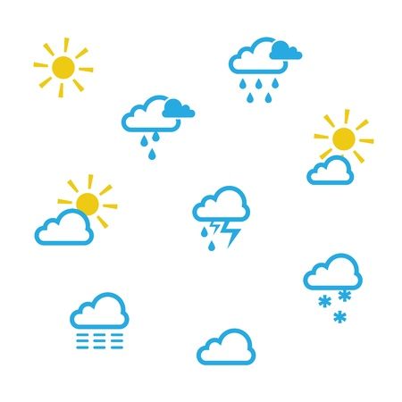 Weather symbols  Stock Vector - 15474886