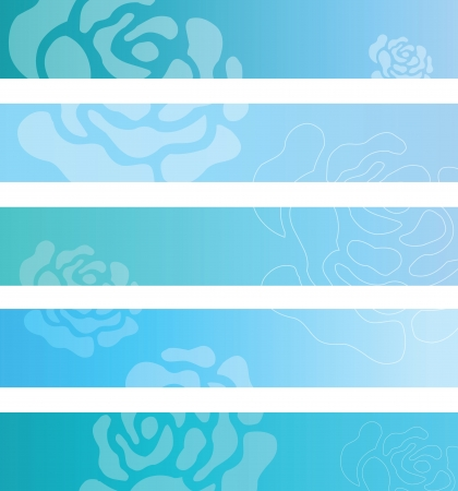 Floral banner backgrounds Vector