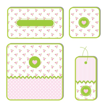 Set of gift vector tags Vector