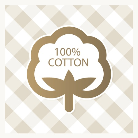 cotton: Cotton label Illustration