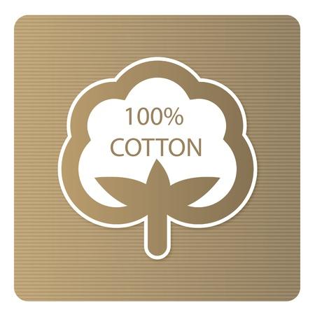 Cotton label Vettoriali