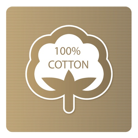 organic background: Cotton label Illustration