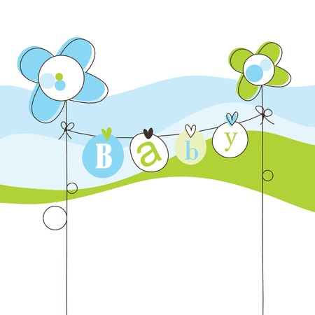 Baby shower invitation with copy space Stock Vector - 15687388