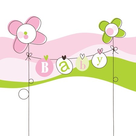 Baby shower invitation with copy space Stock Vector - 15687390