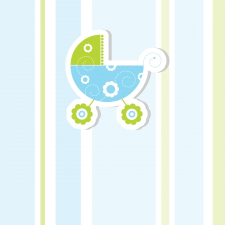 buggy: Baby shower invitation with copy space