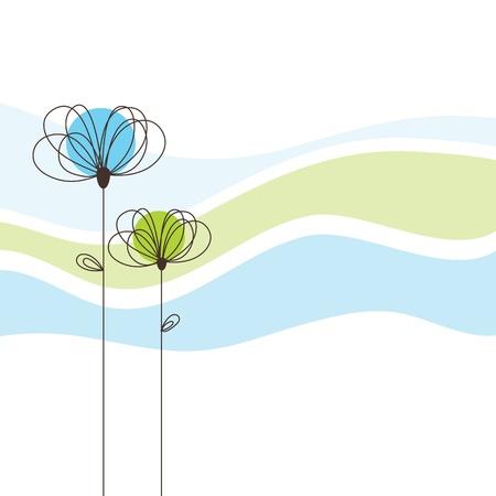 Tarjeta de felicitación con copia espacio Ilustración de vector
