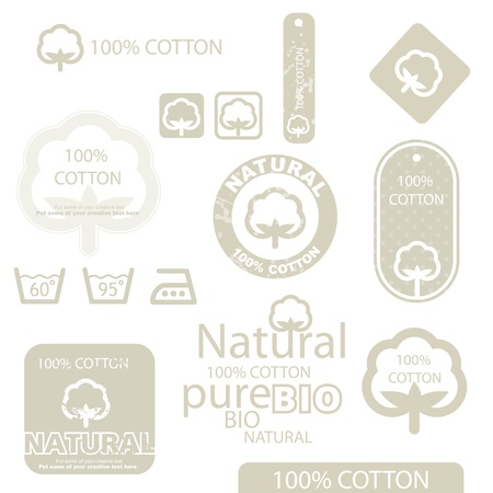 textile industry: Cotton label Illustration