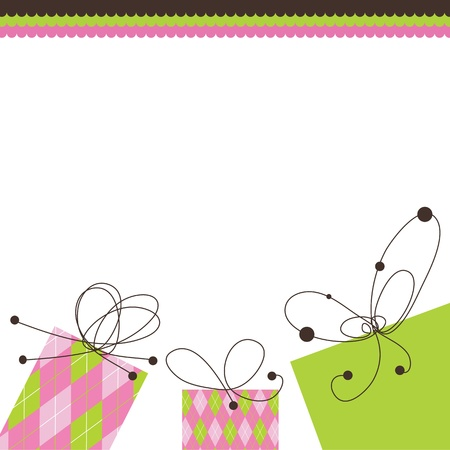 Birthday card with copy space Illustration