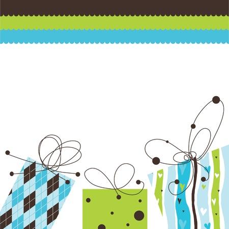 コピー スペース誕生日カード  イラスト・ベクター素材