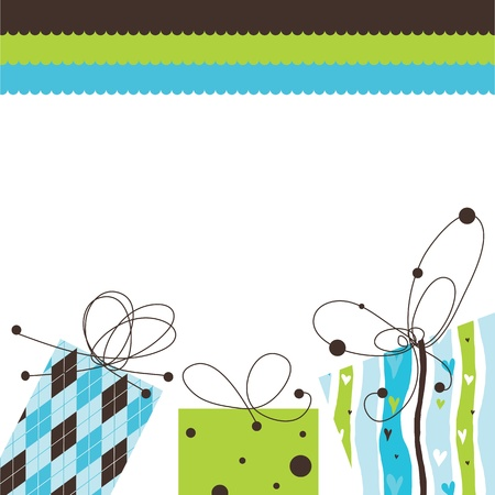 birthday: Birthday card with copy space Illustration