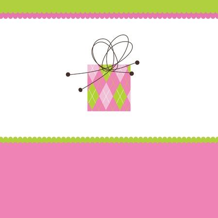 birthday backdrop: Birthday card with copy space Illustration