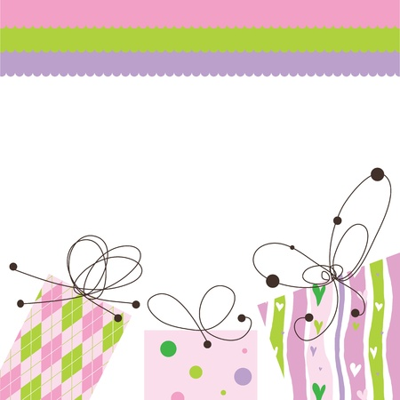 birthday invitation: Birthday card with copy space Illustration