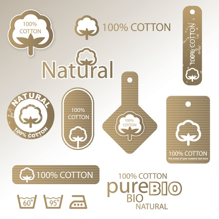 Cotton labels Stock Vector - 15735369