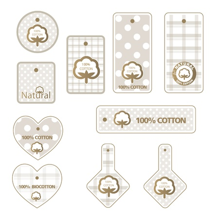 Cotton labels Stock Vector - 15735371