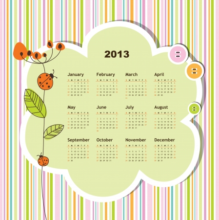 New year calendar 2013  Stock Vector - 16243916