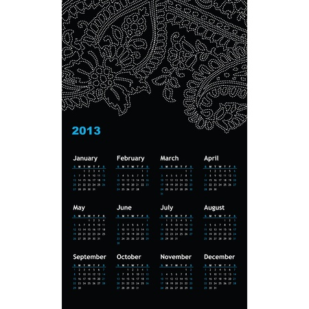 New year calendar 2013  Stock Vector - 16243949