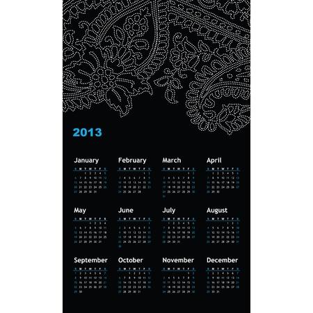New year calendar 2013 Stock Vector - 16243949