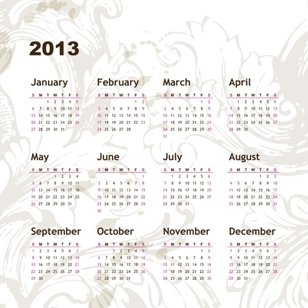 New year calendar 2013  Stock Vector - 16243932