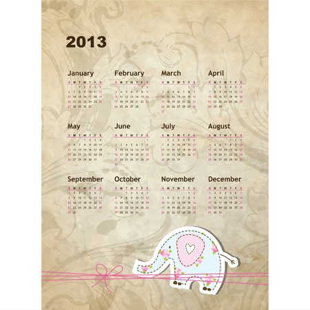 New year calendar 2013  Stock Vector - 16244252