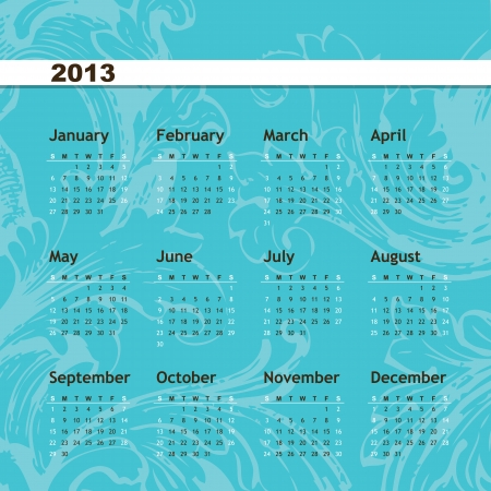 New year calendar 2013 Stock Vector - 16243915
