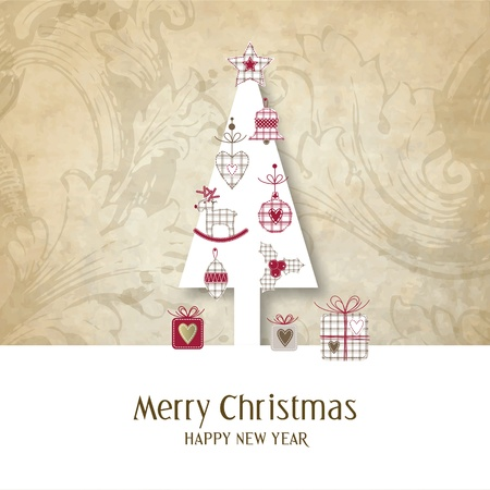New year s card with copy space  Vector