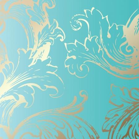 artistic flower: Floral decorative background