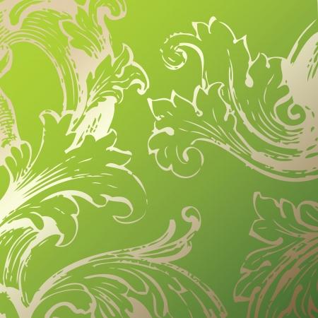 historical romance: Floral decorative background