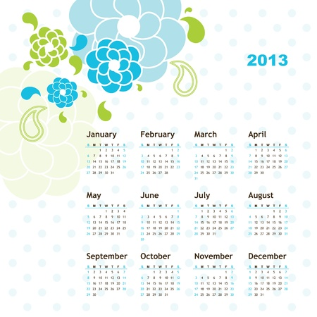 New year calendar 2013 Stock Vector - 16243917