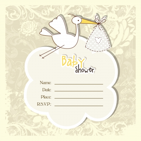 baby shower party: Baby shower invitation with copy space