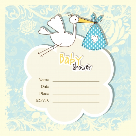 Baby shower invitation with copy space Vector